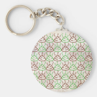 Poop Basic Round Button Key Ring