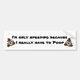 Poop Bumper Sticker