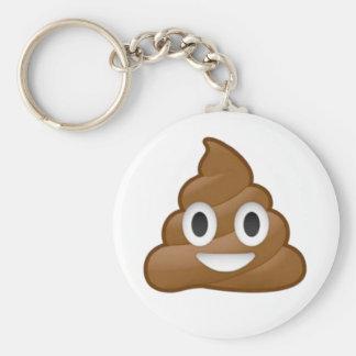 Poop emoji basic round button key ring