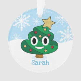 Poop Emoji Christmas Ornament