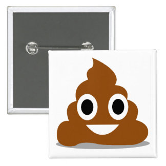 Poop Emoji Emoticon Funny Button Badge