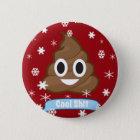 Poop Emoji Funny Christmas Button badge