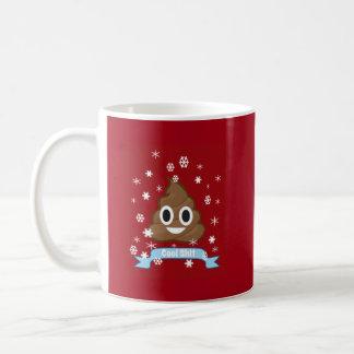 Poop Emoji Funny Christmas Mug