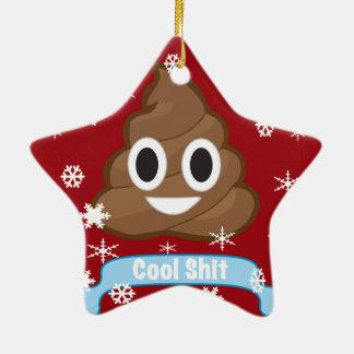 Poop Emoji Funny Christmas ornaments
