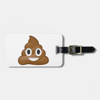 Poop emoji luggage tag