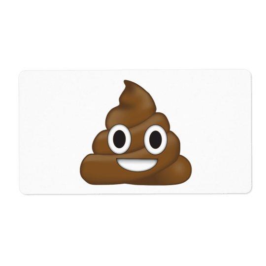 Poop Emoji Shipping Label