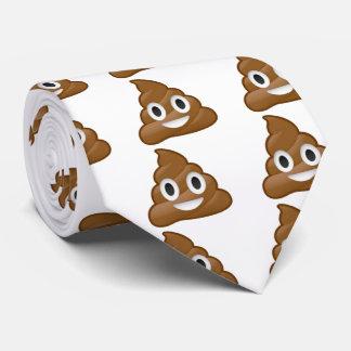 Poop emoji tie