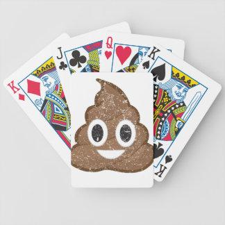 Poop emoji vintage bicycle playing cards