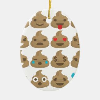 poop emojis ceramic oval decoration