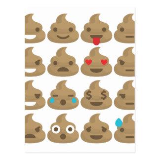 poop emojis postcard