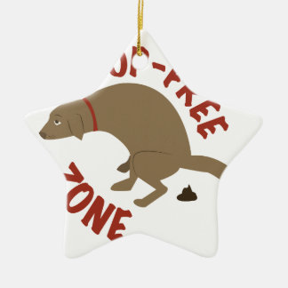 Poop-Free Zone Christmas Ornament
