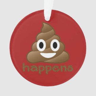 Poop Happens Christmas Ornament