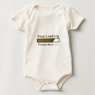 Poop Loading Please Wait Baby Bodysuit