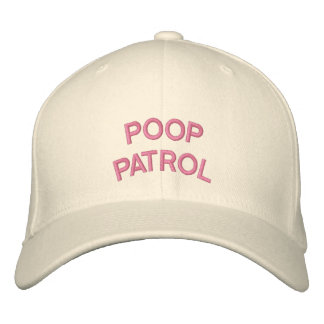 """POOP PATROL"" embroidered on  cap Embroidered Hat"