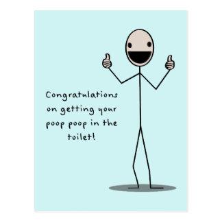 Poop Poop In The Toilet Postcard