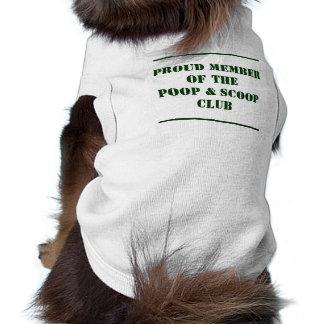 Poop & Scoop Club Sleeveless Dog Shirt