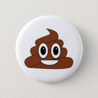Poop Smiley 6 Cm Round Badge
