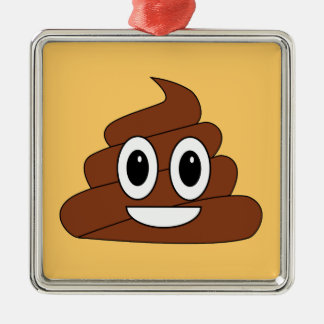 Poop smiley christmas ornament