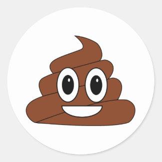Poop Smiley Classic Round Sticker