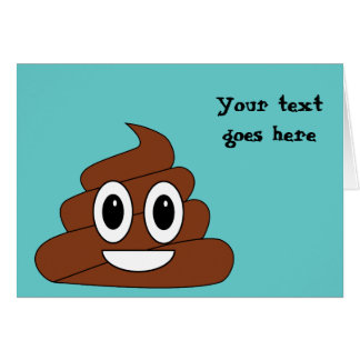 Poop Smiley Greeting Card