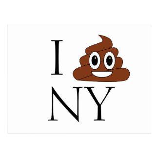 Poop Smiley Postcard