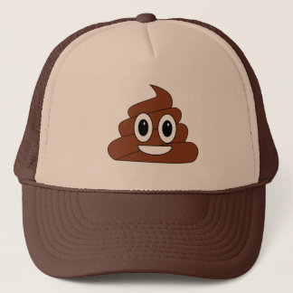 Poop smiley trucker hat