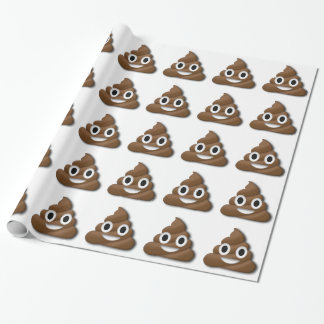 Poop ! wrapping paper
