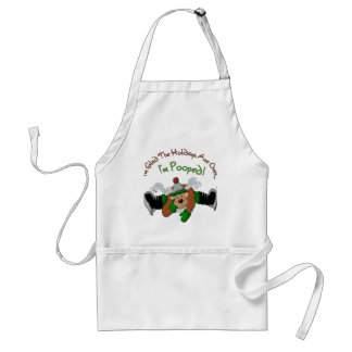 Pooped Out Reindeer Apron
