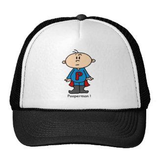 Pooperman Baby Cap