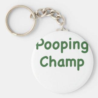 Pooping Champ Key Chain