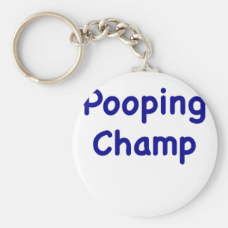 Pooping Champ Key Chains