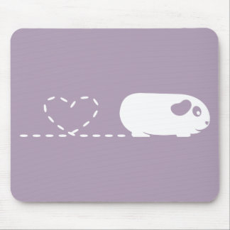 Pooping Heart Guinea Pig Mousemat
