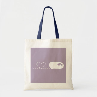 Pooping Heart Guinea Pig Shopping Bag