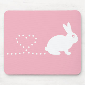 Pooping Heart Rabbit Mousemat