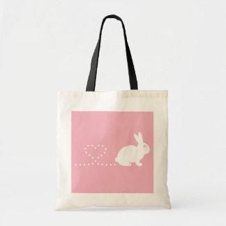 Pooping Heart Rabbit Shopping Bag