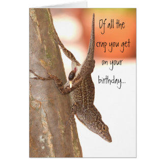 Pooping Lizard Card