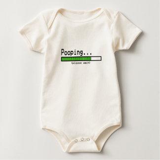 Pooping... Please wait Baby Bodysuit