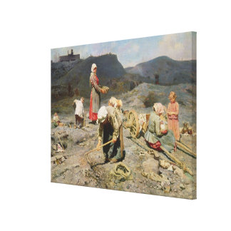 Poor People Gathering Coal Canvas Print