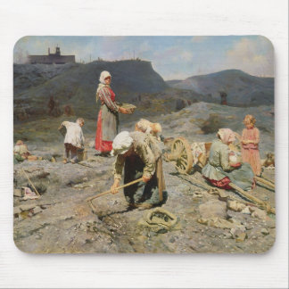 Poor People Gathering Coal Mouse Mat