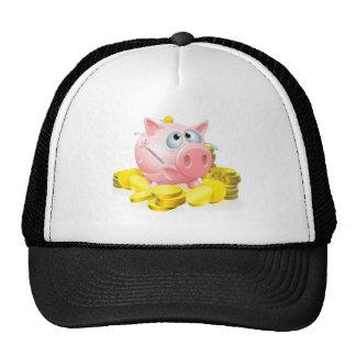 Poorly piggy bank concept hat