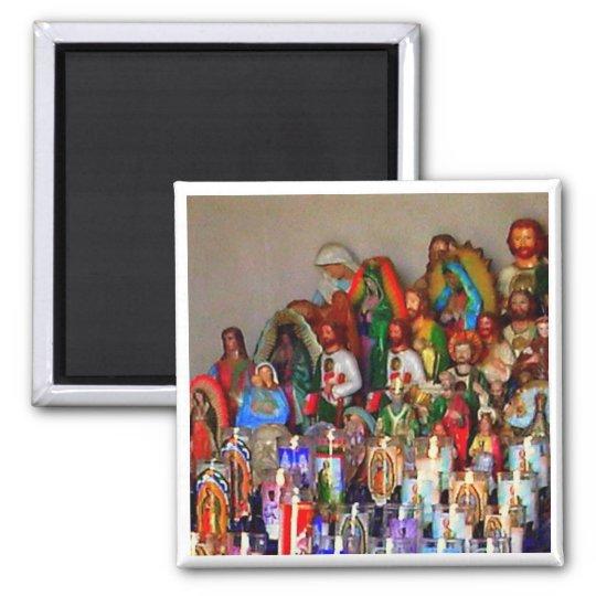 Pop Altar Square Magnet