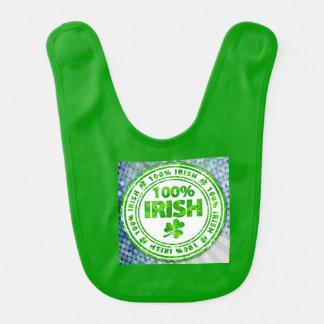 Pop Art 100% Irish Baby Bib