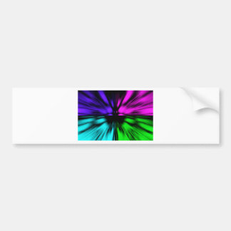 Pop Art abstract four colours. Warp drive space Bumper Sticker