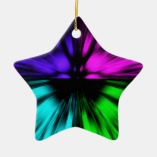 Pop Art abstract four colours. Warp drive space Christmas Ornament