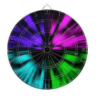 Pop Art abstract four colours. Warp drive space Dartboard