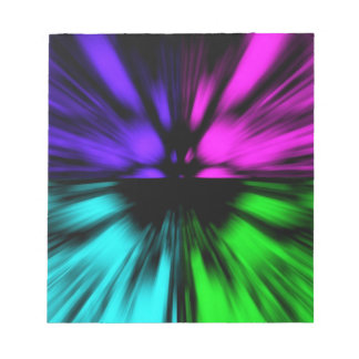 Pop Art abstract four colours. Warp drive space Notepad