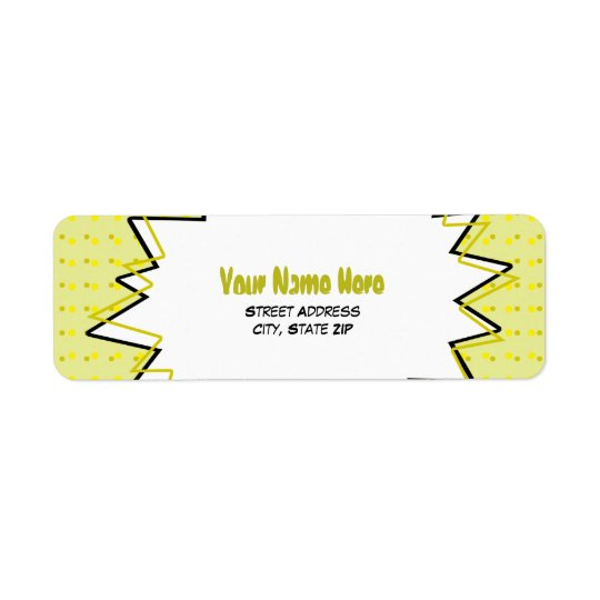 Pop Art Address Label - Yellow