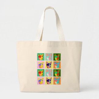 Pop Art Australian Cattle Dog Tote Bag
