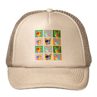 Pop Art Australian Cattle Dog Hats