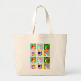 Pop Art Australian Cattle Dog Jumbo Tote Bag